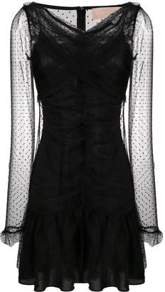 Keepsake Polka-Dot Pattern Tulle Dress