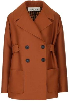 Lanvin Back Check Pattern Short Coat