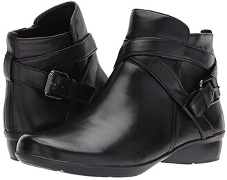 Naturalizer Cassandra (Black Leather) Women's Pull-on Boots