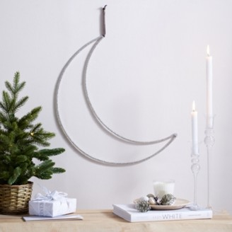 The White Company Beaded Moon - 50cm, Silver, One Size