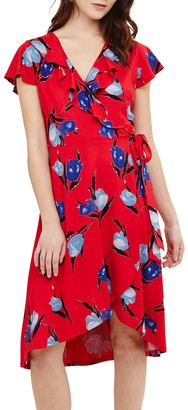 Phase Eight Idella Tulip Print Dress, Red/Multi