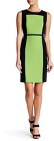 Nine West Crepe Colorblock Dress
