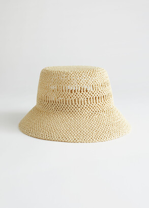 And other stories Woven Straw Bucket Hat
