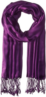La Fiorentina Women's Solid Gauze Pashmina