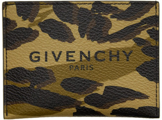 Givenchy Green Camo Card Holder