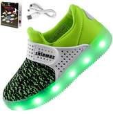 Shinmax LED Kid Shoes, LED Sneakers Sport Shoes Spring-Summer-Autumn Breathable 7 Colors LED Shoes USB Rechargable Kid shoes Led Sneakers
