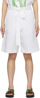 Plan C White Belted Shorts
