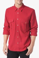 7 For All Mankind Worker Shirt In Red