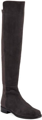 Stuart Weitzman 5050 Suede & Gabardine Over-the-Knee Boots