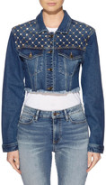 GUESS Diamante Cropped Jacket Mid