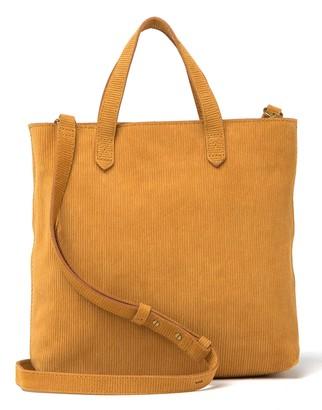 Madewell Leather Ziptop Transport Crossbody Bag