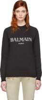 Balmain Black Logo Pullover