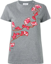 Carven floral embroidered T-shirt - women - Cotton - M