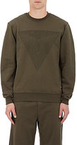 Public School Men's Triangle-Print Cotton Sweatshirt-GREEN