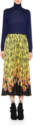 Prada Long-Sleeve Knit Turtleneck Virgin Wool Sweater