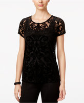 INC International Concepts Petite Burnout Top, Only at Macy's