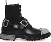 Alexander McQueen Steel toe cap leather biker boots