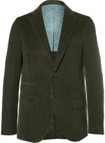 Michael Bastian - Green Slim-fit Elbow Patch Cotton-corduroy Suit Jacket