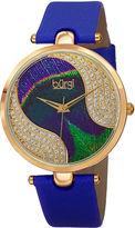 Burgi Womens Blue Strap Watch-B-131bu