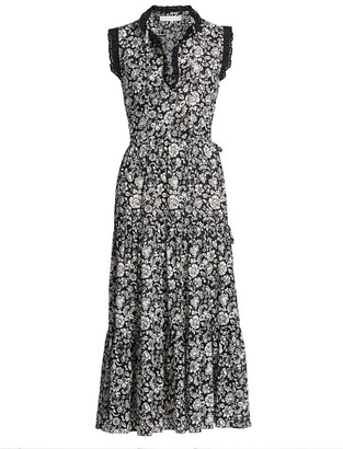 See by Chloe Floral Cotton Voile Midi Dess