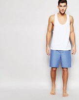 Asos Loungewear Woven Shorts In Blue