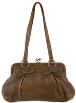 Miu Miu Distressed Leather Shoulder Bag