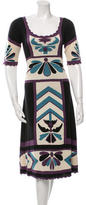 Temperley London Silk Patterned Dress