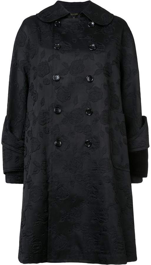 Comme des Garcons jacquard double-breasted coat
