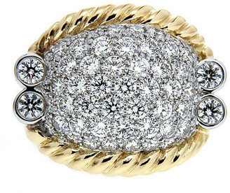 Valentino Magro Triple-Rope Diamond Pave Ring, Two-Tone