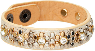 Braided Birch Women's Bracelets - Metal Studded Bracelet