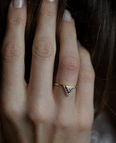 Etsy Diamond Engagement Ring With Pave Diamonds,Trillion Wedding Ring, 0.2 Carat Diamond BAnd, 18k Solid
