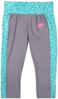 Nike Big Girls' (7-16) Seasonal Sport Casual Leggings-Teal/Gray-Large