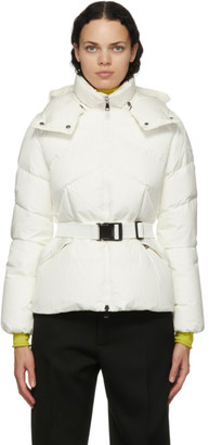 Moncler White Down Aloes Coat