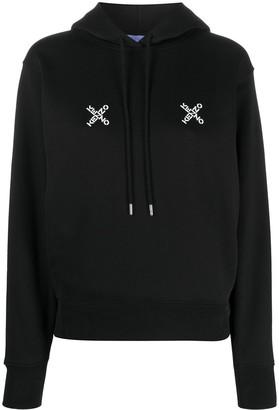 Kenzo Cross Logo Print Hoodie