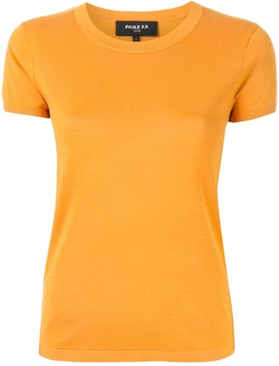 Paule Ka knitted round-neck T-shirt