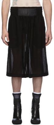 Random Identities Black Mesh Boxing Shorts