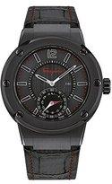 Salvatore Ferragamo Men's 'F-80' Swiss Quartz Stainless Steel and Leather Casual Watch, Color:Black (Model: FAZ020016)
