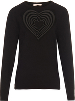 Christopher Kane Love-heart embroidered wool-blend sweater