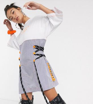 DB Berdan lace detail panelled t-shirt dress