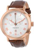 Akribos XXIV Men's AK591RG Swiss Chronograph Leather Strap Watch