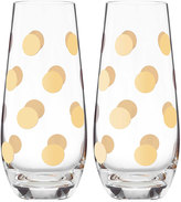 Kate Spade Pearl Place Stemless Champagne Glasses, Set of 2