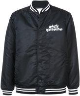 White Mountaineering logo printed bomber jacket