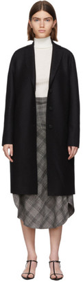 Harris Wharf London Black Pressed Wool Coat