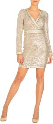 GUESS Patrice Sequin Embellished Mini Dress