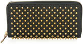 Christian Louboutin Panettone Spiked Leather Zip Wallet