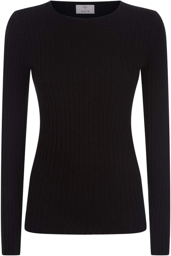Allude Ribbed Cashmere Sweater