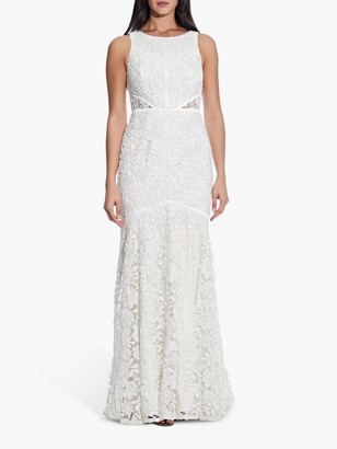 Adrianna Papell Halter Long Gown, Ivory