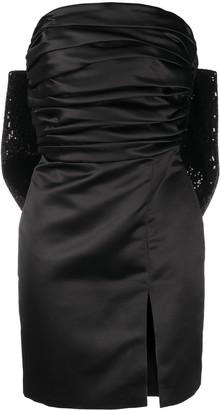 Giuseppe di Morabito Sequin Bow-Embellished Duchesse Minidress