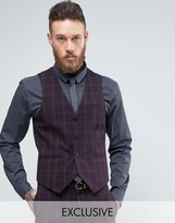 Only & Sons Skinny Waistcoat In Check