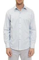 Robert Graham Vignesh Striped Sport Shirt, White